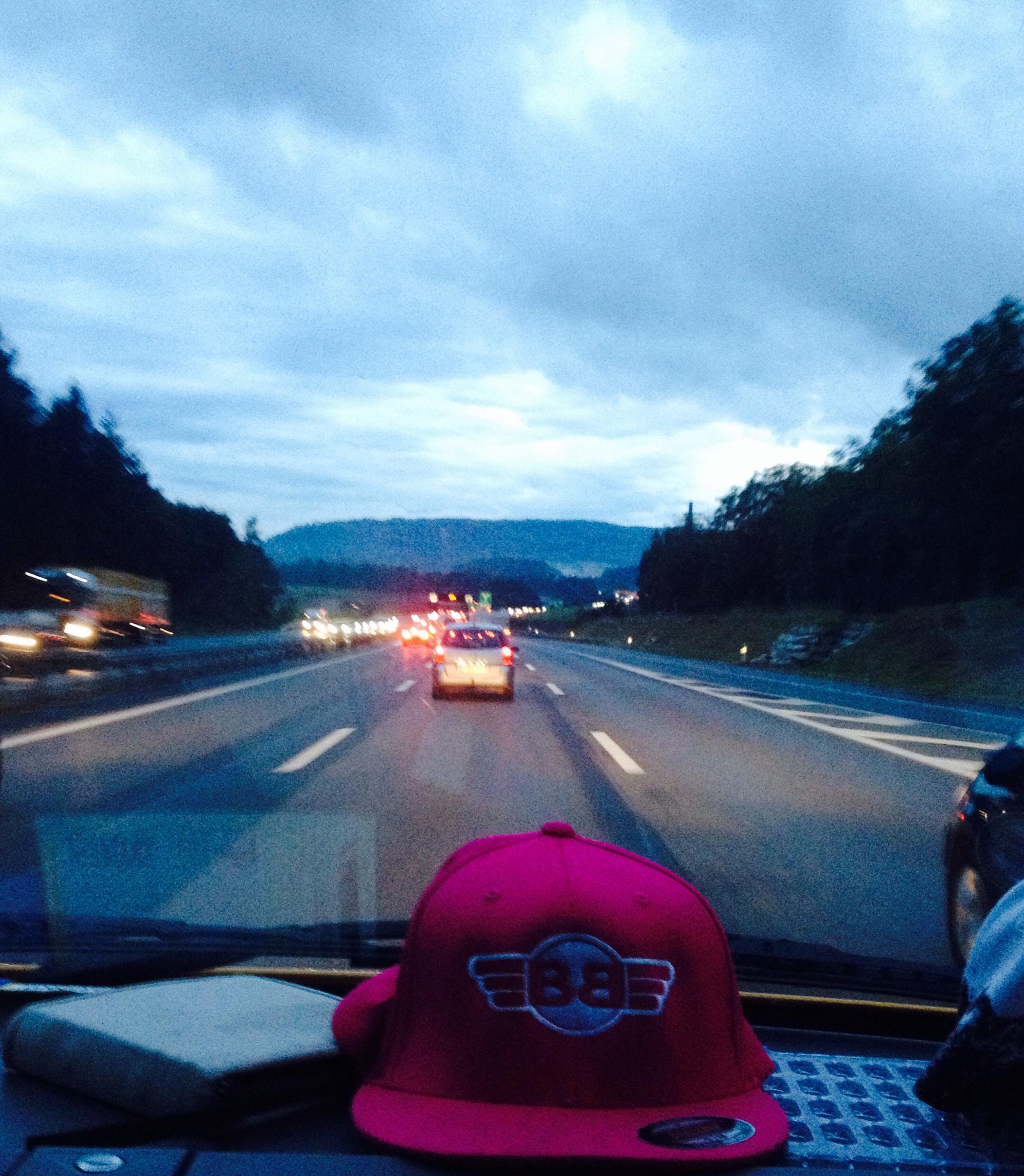 Auf der Autobahn....