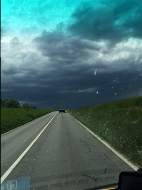 das Wetter in unserer Zielrichtung....