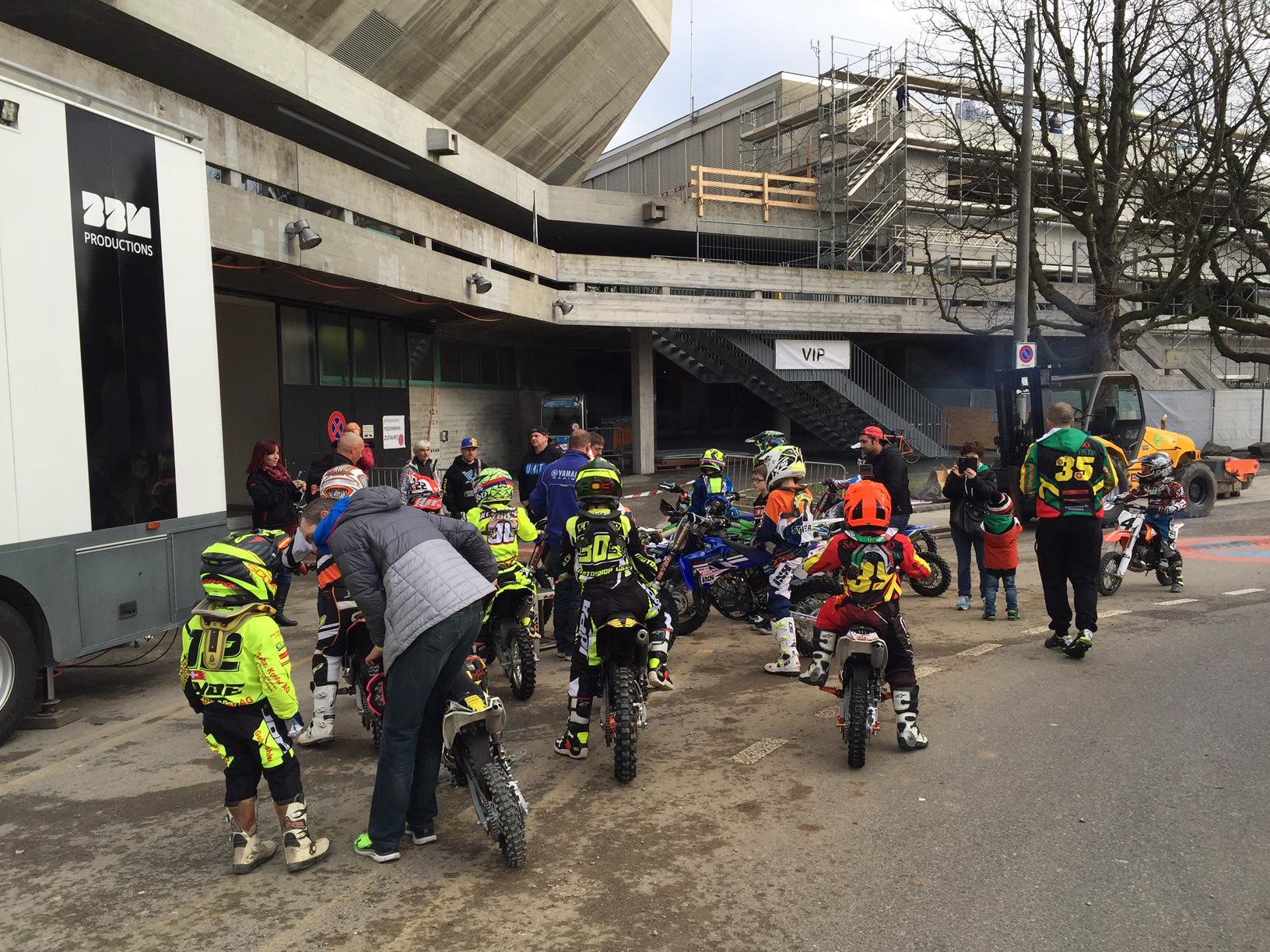 Kurz vor dem Training mitten in Basel